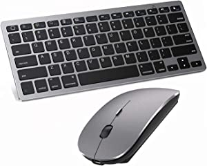 Bluetooth Keyboard and Mouse for iPad and iPhone,ipad Keyboard and Mouse,Wireless Keyboard and Mouse Compatible with ipad pro/ipad Mini/ipad Air (iPadOS 13 / iOS 13 and Above) (Gray)