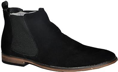 bottines noires cuir nubuck homme chelsea boots r3803-bk pQyvA