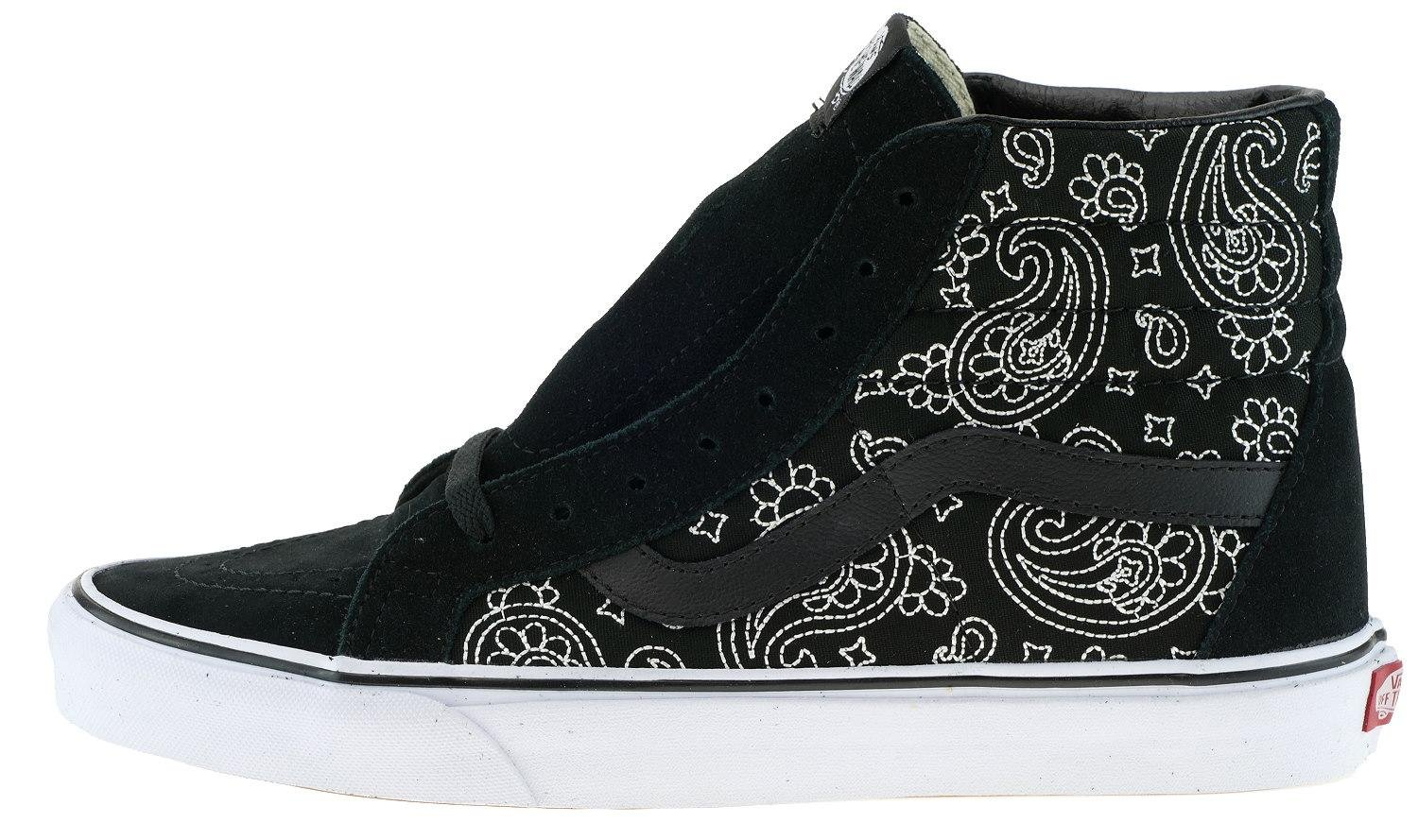 Vans Unisex Sk8-Hi Slim Women's Skate Shoe B011SL4P0A 12.5 B(M) US Women / 11 D(M) US Men|Bandana / Black / White