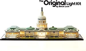 LED Lighting Kit for Lego Architecture United States Capitol Building - 21030 - Custom Designed - Handmade - Durability Tested - Compatible with Lego and All Major Brands