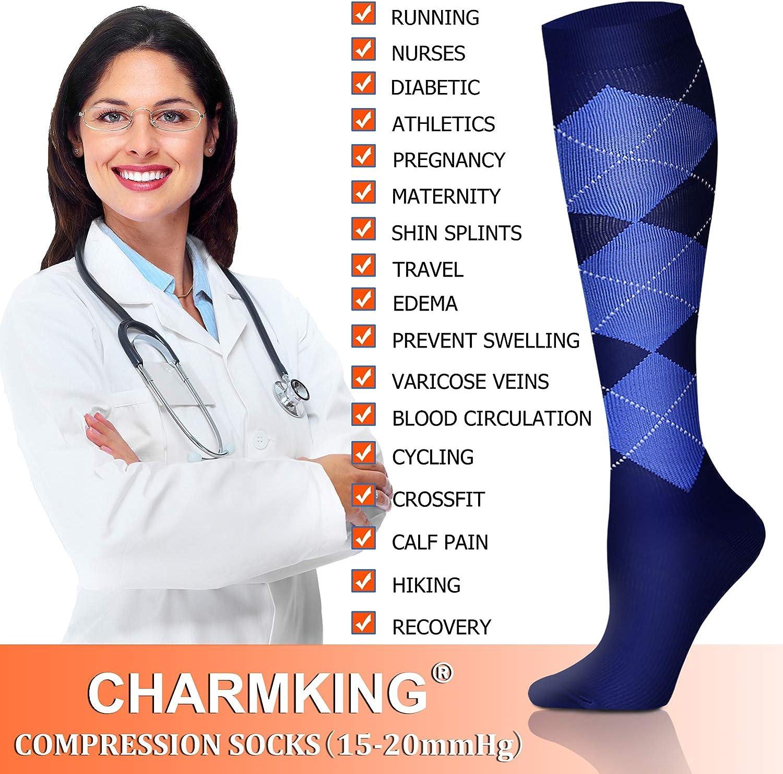 Copper Compression Socks 8 Pairs for Men /& Women 15-20 mmHg is Best Athletic /& Medical for Running Flight Travel Nurses
