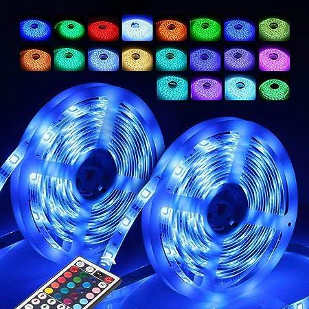 LED tira de luz, iluminación LED colorido cambiante tiras de ...