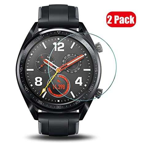 Voviqi Verre Trempé Huawei Watch GT, Huawei Watch GT Verre Trempé Protection écran Ultra Résistant