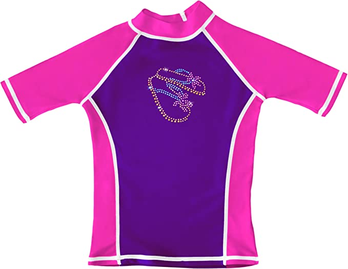 UPF 50+ grUVywear UV Protective Girls Long Sleeve Shirt with Star Rhinestone