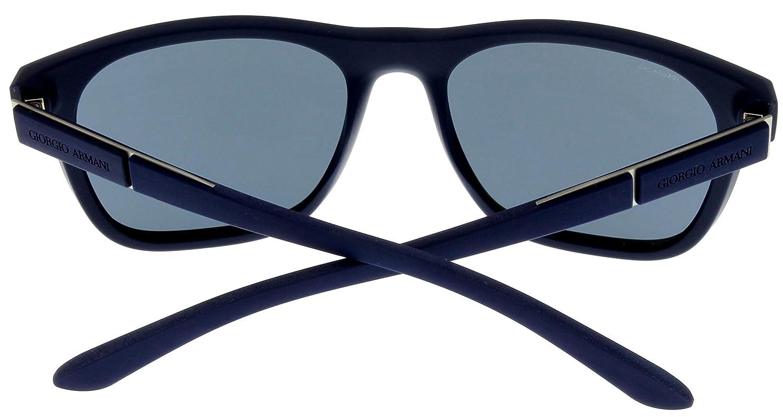 Amazon.com: Giorgio Armani Sunglasses Men Blue Rubber ...