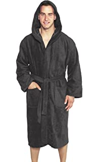 Monarch Cypress Terry Hooded Hotel Spa Robe - Unisex Cotton Heavy ... d26e99b1d
