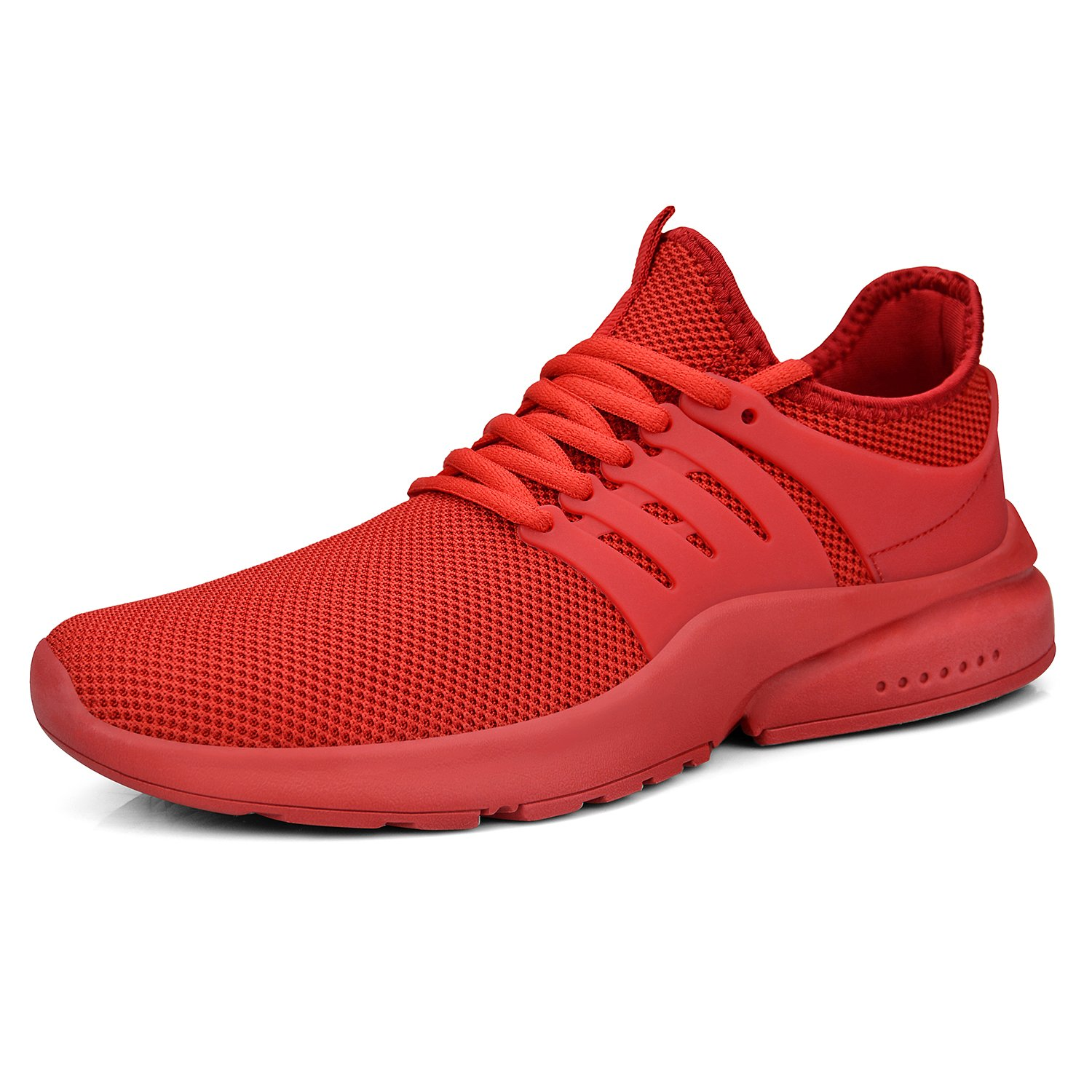 Feetmat Men's Athletic Shoes Ultra Lightweight Breathable Running Walking Training Sports Travel Casual Sneakers B07DN6LRJP 8 M US|Red