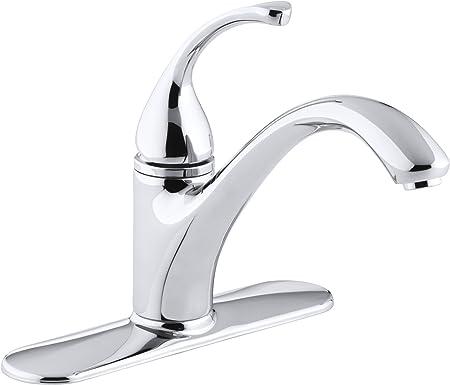 Kohler 10411 Cp Forte R 3 Hole Sink 9 1 16 Spout Kitchen Faucet