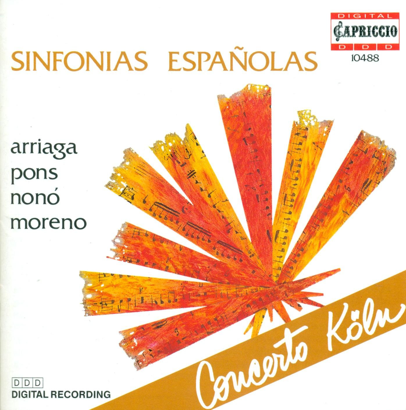 Amazon.com: Arriaga/Pons/Nono/Moreno: Sinfonias Espanolas: Music