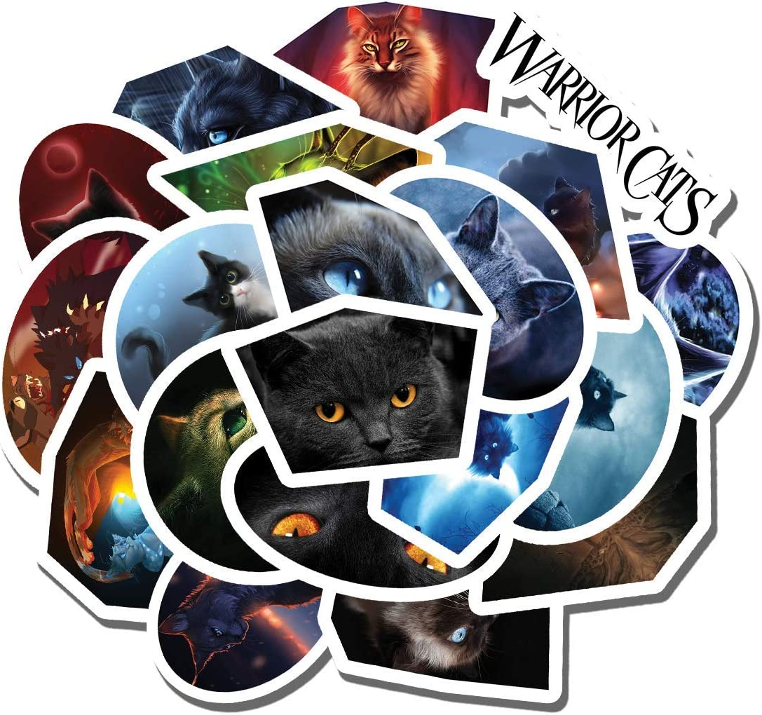 20 PCS Stickers Pack Warrior Cats Aesthetic Vinyl Colorful Waterproof for Water Bottle Laptop Scrapbooking Luggage Guitar Skateboard
