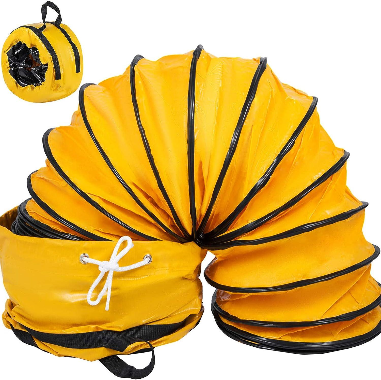 Mophorn - Manguera flexible de PVC de 25 pies para ventilador de escape de 10 pulgadas con una bolsa (10 pulgadas 25 pies)