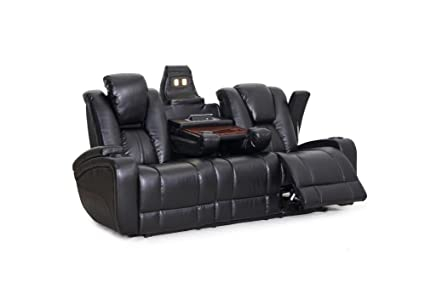 Amazoncom Seatcraft Innovator Reclining Sofa With Power And Drop