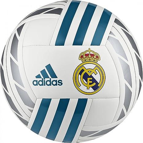 adidas Real Madrid Balón Fútbol Authentic 2017/18, Bianco: Amazon ...