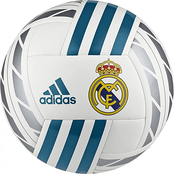 adidas Real Madrid Balón Fútbol Authentic 2017/18, Bianco: Amazon ...