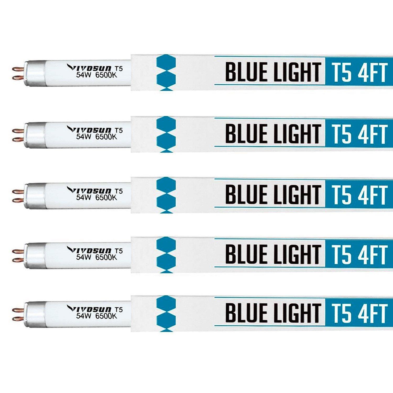 Amazon.com : VIVOSUN Grow Lamps 5 Packs 4FT/46IN 6500K T5 ... for T5 Tube Light Specification  568zmd