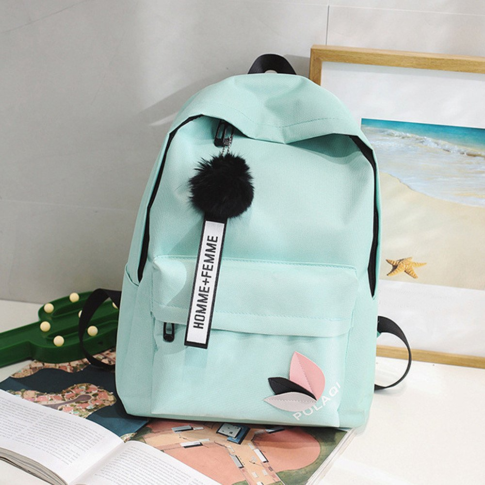 a924daaed342 Amazon.com  Cinhent Backpacks Fashion Neutral Backpack Lightweight Shoulder  Bag Canvas School Girls Boy Small Fresh College Wind Campus Handbag  (Green)  ...