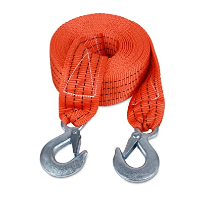 JCHL Tow Strap with Hooks 2in X20Ft Recovery Strap 10,000LB Break Strengthened Towing Rope for Towing Vehicles in Roadside Emergency: Automotive