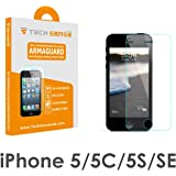 Tech Sense Lab - Full Hd, Shatterproof, Anti Scratch Tempered Glass Screen Protector For Iphone 5, Iphone 5S & Iphone Se