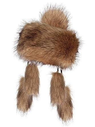 elegante Form perfekte Qualität unverwechselbares Design Futrzane Mongolische Fellmütze Strickmütze Mütze Bommel Fell Wintermütze  Pelzmütze