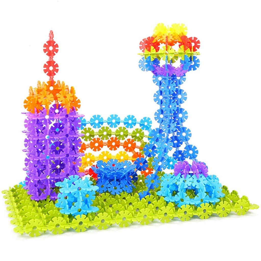 Brain game ⚡ YZWJ Snowflake Childrens Building Blocks 3-10 Years Old boy and Girl Assembling Spelling Toy 0513A Size : Large 165