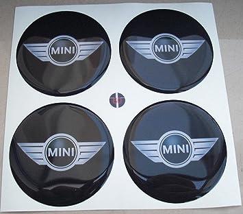 Juego de 4 adhesivos 3D de resina tapacubos para Mini Cooper, calidad 3M, para tuning, 60 mm: Amazon.es: Coche y moto