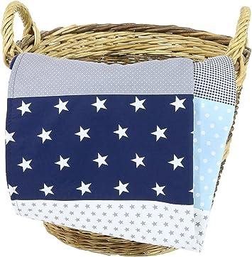 Alfombra para gatear de ULLENBOOM /® con elefantes amarillo manta para beb/é de 100/x/100 cm; ideal como colcha para el cochecito; apta como alfombra de juegos