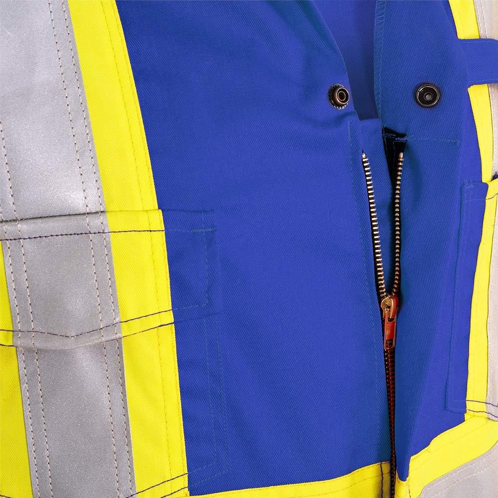 Action Back Royal Blue V2540310-48 Hi Vis Premium Cotton Nylon 48 Pioneer CSA UL ARC 2 Lightweight Flame Resistant Work Coverall