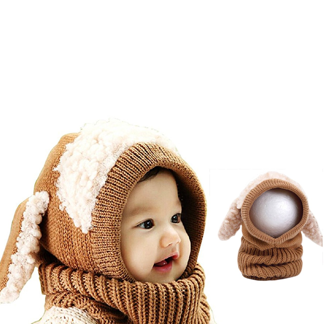 fece7fdb4 Bonice Children's Hat, Baby Girls Boys Knitted Animal Hat Hood ...