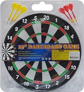 Dartboard Game with 6 Darts, 38 Cm