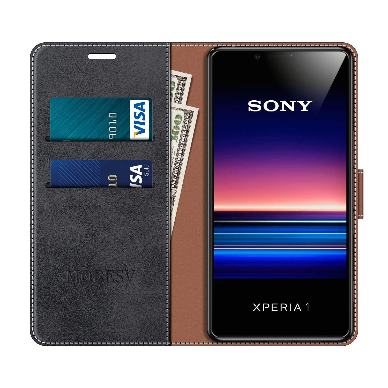 Negro MOBESV Funda para Sony Xperia 1 Funda M/óvil Sony Xperia 1 Magn/ético Carcasa para Sony Xperia 1 Funda con Tapa Funda Libro Sony Xperia 1