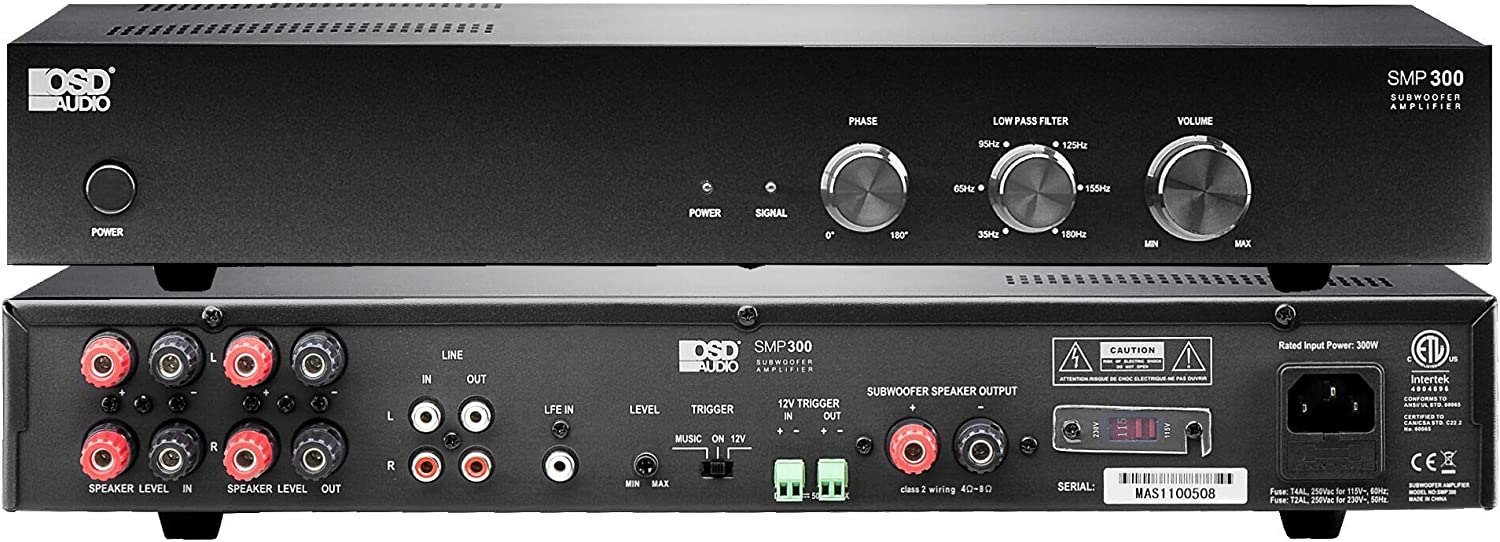OSD Audio SMP300 Class D Digital Subwoofer Amplifier Rated at 300W Max/150W RMS