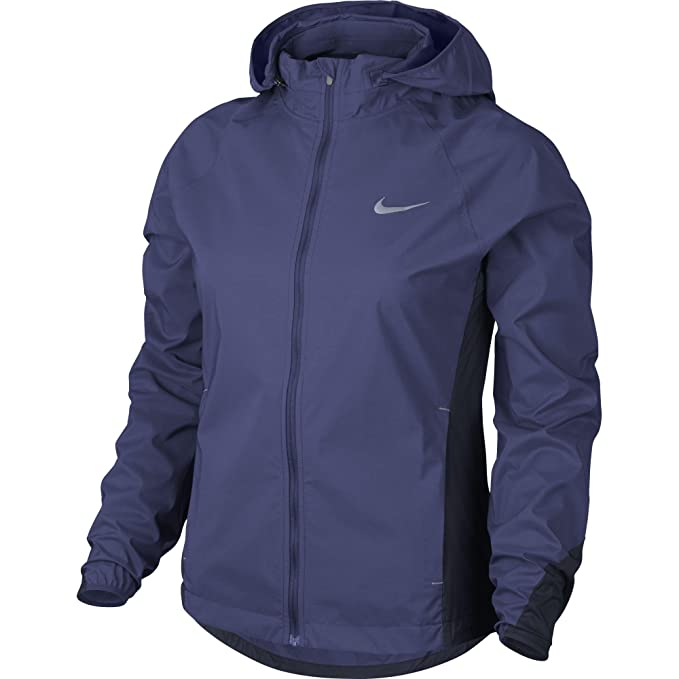 Chaqueta Nike Shield para mujer (Medium, Dark Purple Dust / Obsidian)