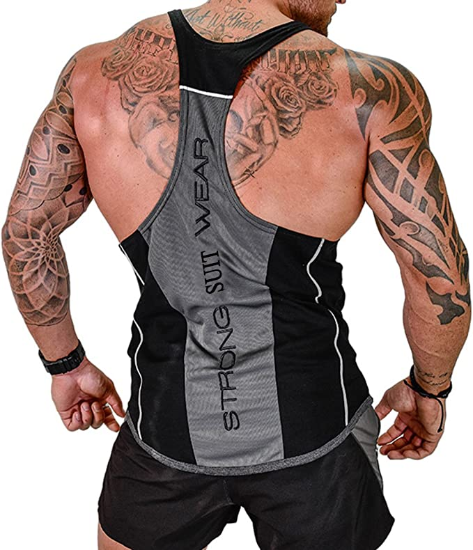 Mens Tank Tops Gym Workout Muscle Shirt Bodybuilding Vest