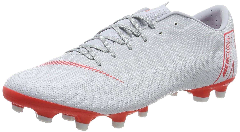 Nike Vapor 12 Academy FG MG, Chaussures de Fitness Mixte Adulte MultiCouleure (Wolf gris Bright Crimson Pure Platinum 060) 42 EU