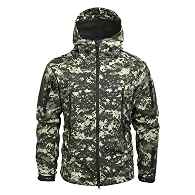 YouzhiWan007 Clothing Men Military Jacket US Army Tactical Sharkskin  Softshell Autumn Winter Outerwear Camouflage Jacket and 1978d678eca