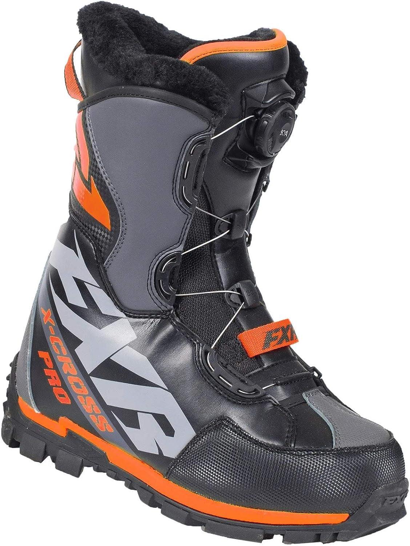 NEW Size   9 FXR X-CROSS ICE PRO Women/'s WARM BLACK//FUCHSIA SNOW BOOTS