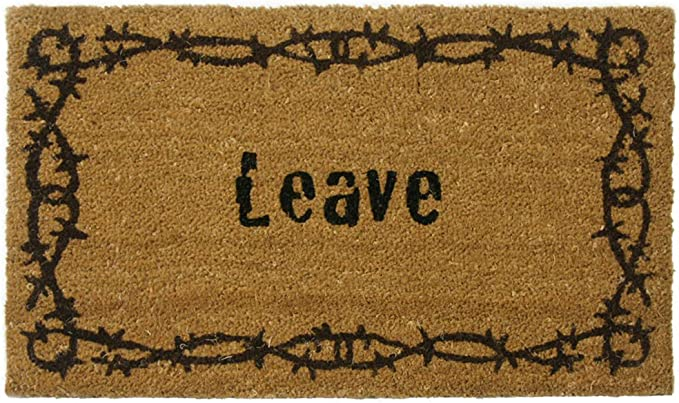 Rubber Cal Leave Unwelcome Mats 18 X 30 Inch Home Kitchen