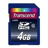 【Amazon.co.jp限定】Transcend SDHCカード 4GB Class10 (無期限保証) TS4GSDHC10E (FFP)