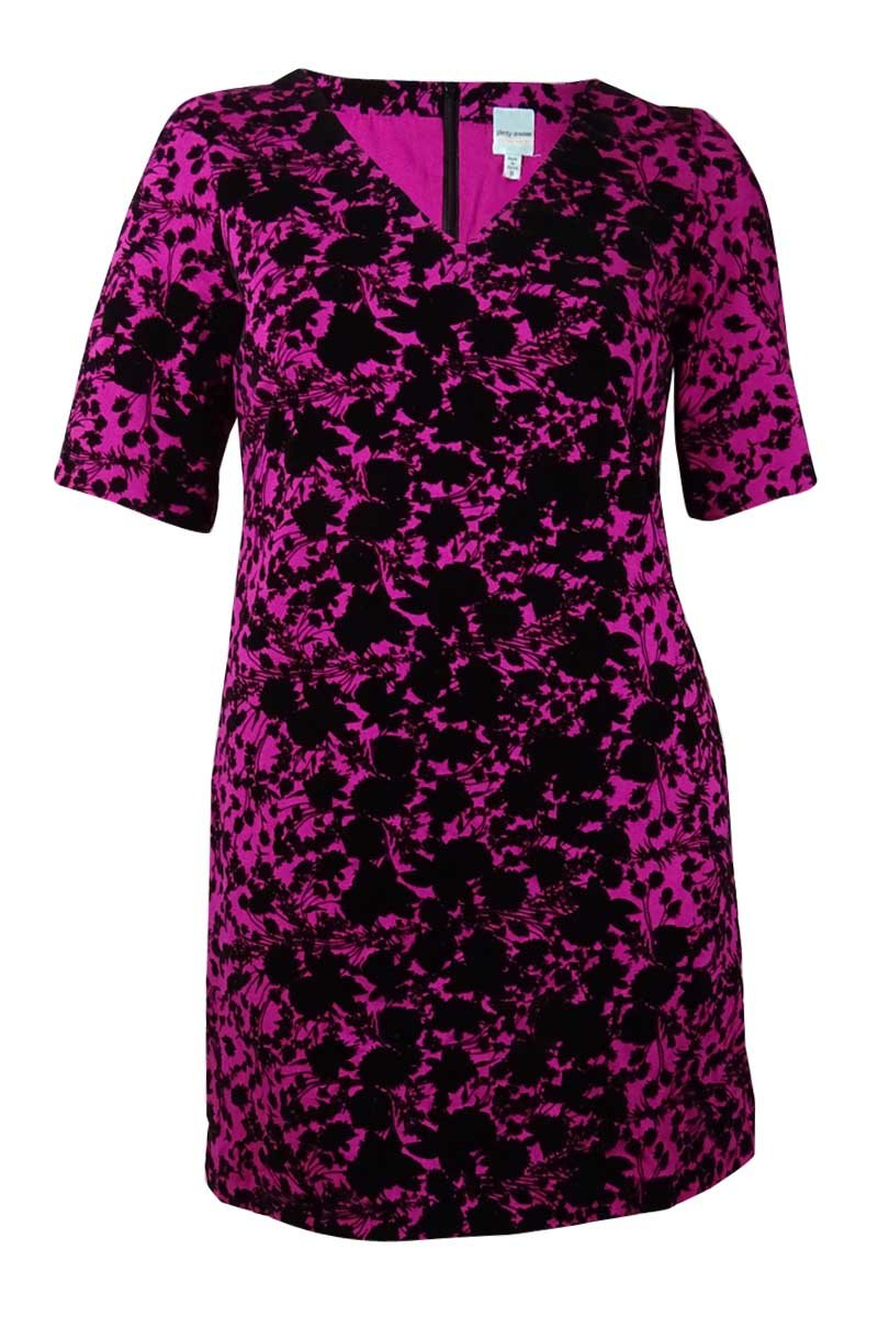 Plenty by Tracy Reese Dresses Women's Juana Short Sleeve V-Neck Dress, Shadow Floral, 14 by Plenty by Tracy Reese (Image #1)
