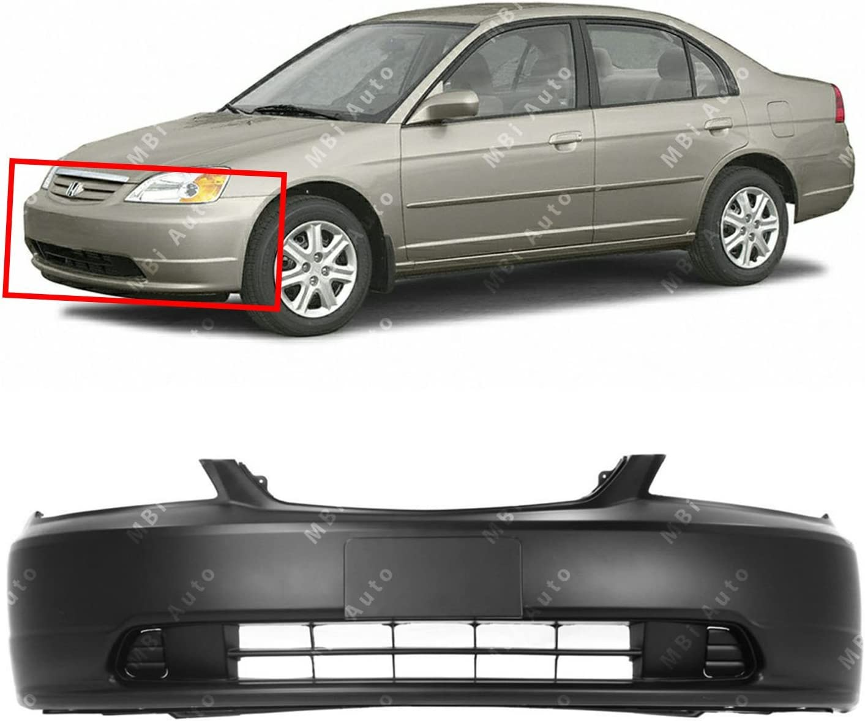 PREMIUM Painted 2001 2002 2003 Honda Civic Sedan Rear Bumper Cover