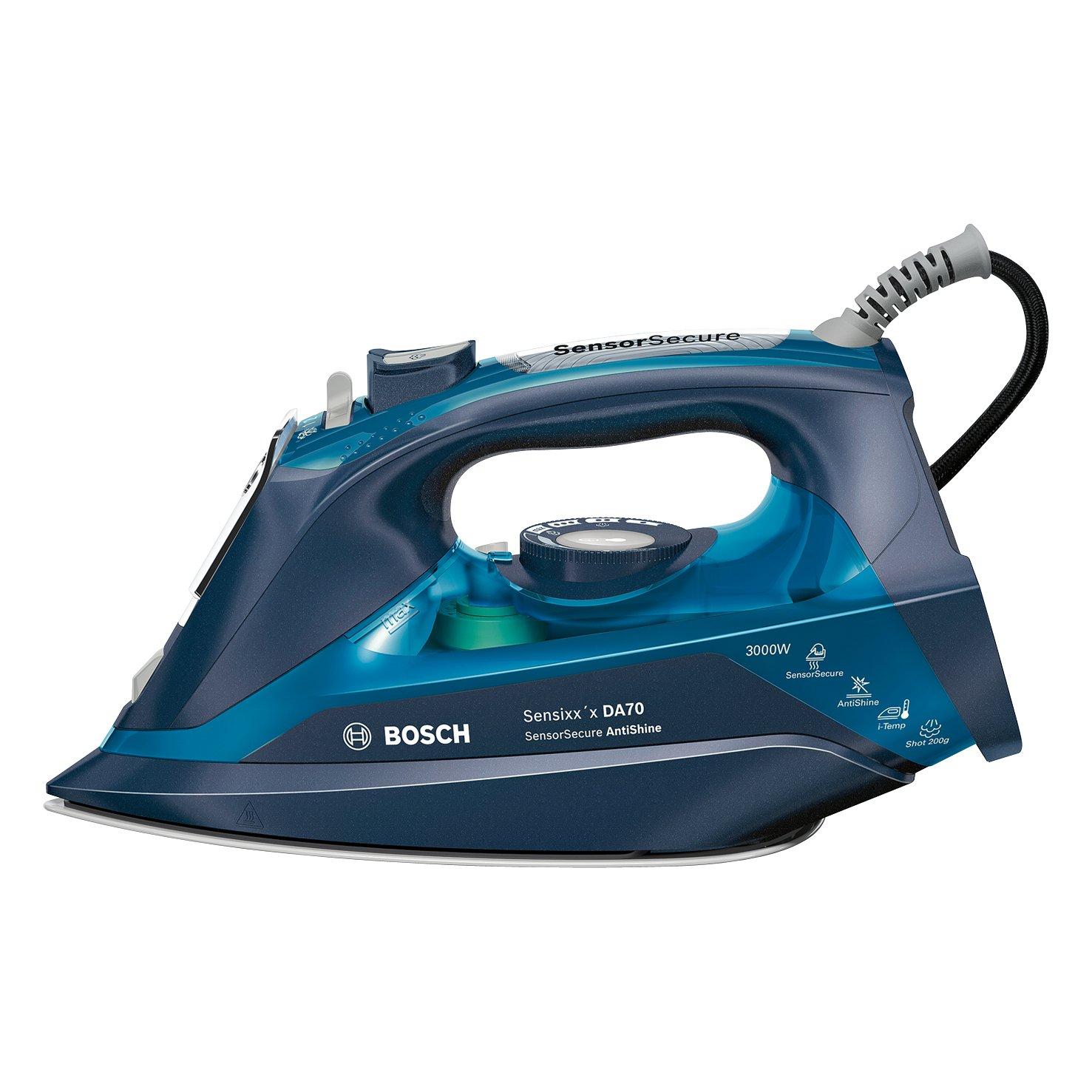 Vapor constante 50 g//min Cer/ámica Plancha de vapor Bosch TDA703021A 3000W Azul