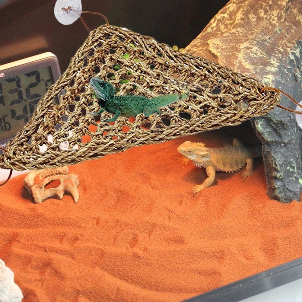 miju Lizard Hammock Pet Reptile Carpet Reptile Home Decor Chameleon Snakes Natural Reptile Hammock For Lizard Climbing Turtle Helpful Bearded Dragon Hammock Gecko