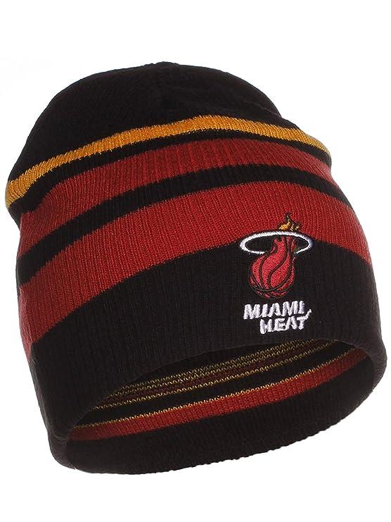 89ffd1af4 Amazon.com: Adidas NBA Band Stripe Reversible Winter Knit Hat ...