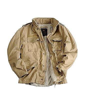szukać gładki w sprzedaży hurtowej Alpha Industries M65 VF 59 Parka Khaki, Beige, L: Amazon.co ...