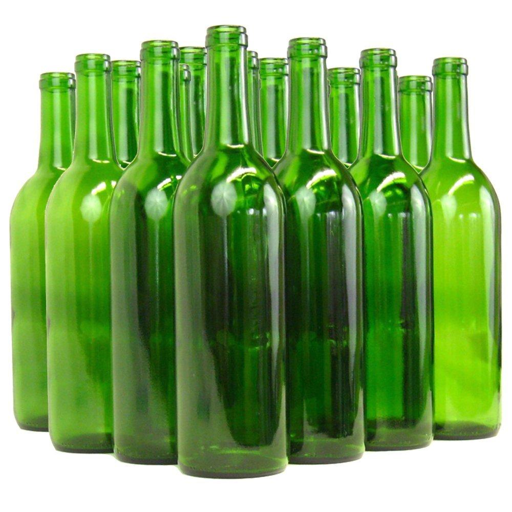 Home Brew Ohio B01EI2NK1Q 6 gallon Bottle Set: green Claret/Bordeaux (36 Bottles)