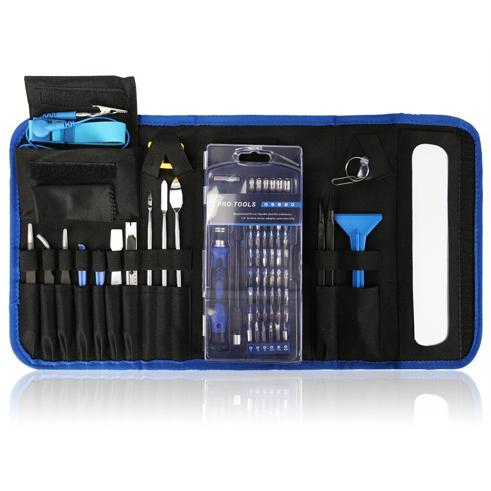 Professional Tablet PC Repair Tool Kit with Portable Bag 86 in 1, Olatool Precision Magnetic Screwdriver Driver Kit Compatible iPhone Mac Phone LCD Screen MacBook Camera DSLR Computer Laptop Hardware by Olatool