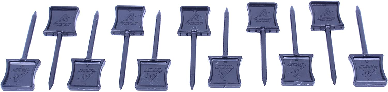 ases Archery Bogensport Zielscheibenn/ägel aus Kunststoff 12er Pack