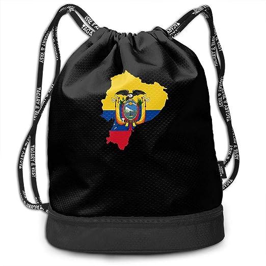 Mapa de la Bandera de Ecuador Mochila con cordón para Hombre ...