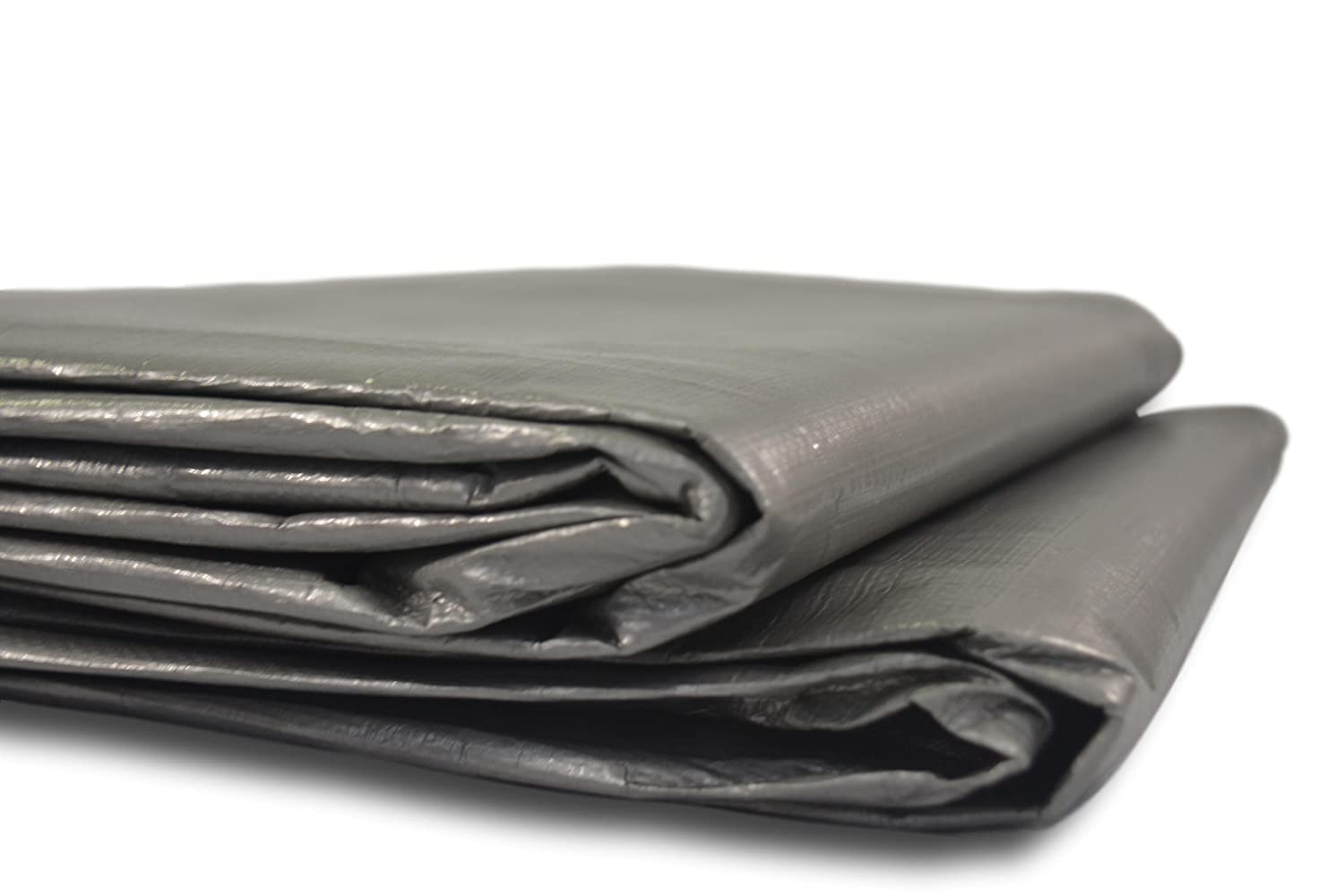 Heavy-Duty Silver Tarp 12 x 16 ft All Purpose Weatherproof Protective Cover