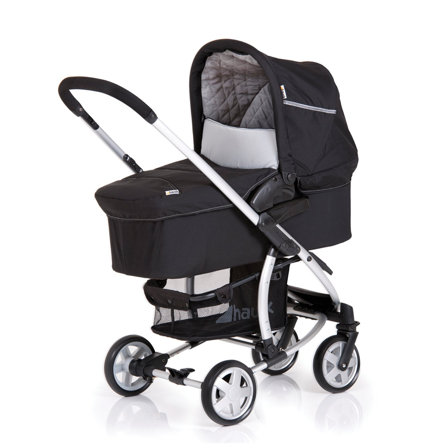 Amazon Hauck Malibu All in e Child Carrier Set Baby stroller and bassinet with car seat adaptor Black Discontinued by Manufacturer Infant Car